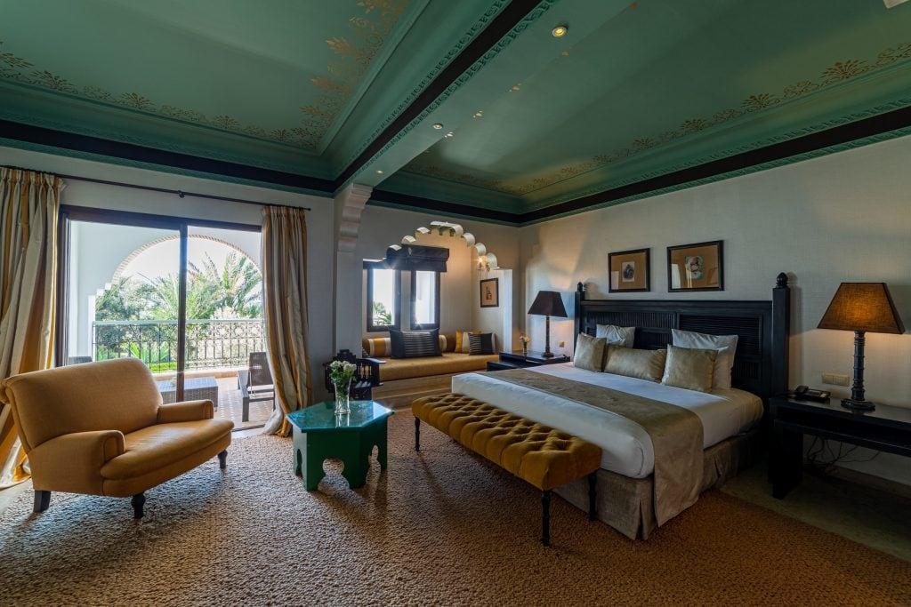 vue d'une chambre suite junior du riad villa blanche agadir